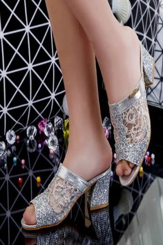 Women sandals 2020 Bling fashion square heel summer lace slippers women sexy Hollow sandals for women size Jelly Shoes, Jelly Sandals, Womens Summer Shoes, Womens High Heels, Bridal Shoes Wedges, Davids Bridal Shoes, Transparent Heels, Blue Chocolate, Lace Heels