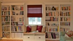 SMITH - Built in Bookshelves with Window-seat for under $350 - IKEA Hackers