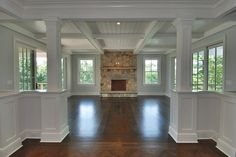 coffered ceiling and