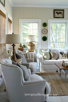 Savvy Southern Style: Fall in the Sun Room