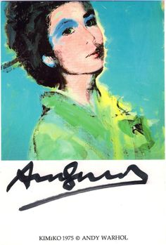 Warhol created images of Kimiko - this is the most well recognised.  This post card print has been signed by Warhol. £2500 framed.   http://belgraviagallery.com/artist/andy-warhol/work/?page=7/