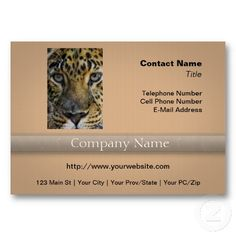 Leopard Face of Hunger Business Card Template