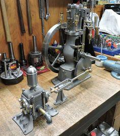 Pacific Vapor Engine from Morrison & Marvin Castings Diesel, Stirling Engine, Hydrogen Fuel, Magnetic Motor, Maker Shop, Old Trains, Small Engine, Steam Engine, Kind Words