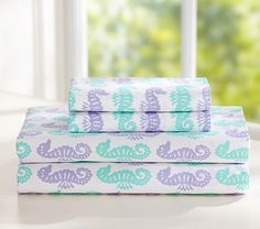 Preppy Seahorse Sheet Set | Pottery Barn Kids
