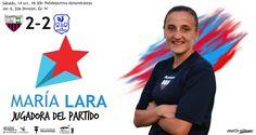 JUGADORA DEL PARTIDO: María Lara  Por no perder la fe en el equipo, por marcar un gol decisivo.   #soloparavalientes