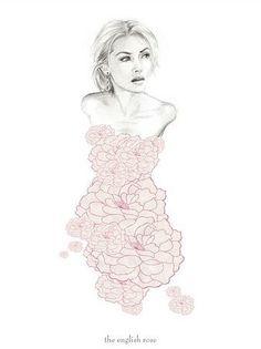 Instead of a flower dress, maybe a dress of butterflies?