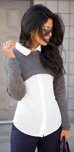 Asos Sweater - cute but not for girls with boobs! http://www.noellesnakedtruth.com/
