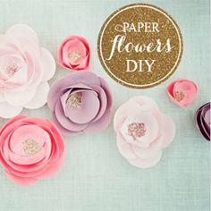 My top 3 wedding DIY projects of the week including these beautiful paper flowers