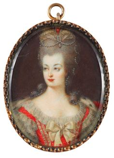 Miniature of Marie Antoinette.