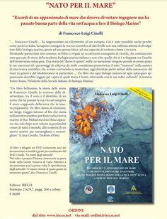 #LaDiligenzaDelSapere presenta: #NatoPerIlMare [IT. 2017. #FrancescoLuigiCINELLI. | #EdizioniIRECO. | ISBN: 978-88-941224-4-2] | #Mare.
