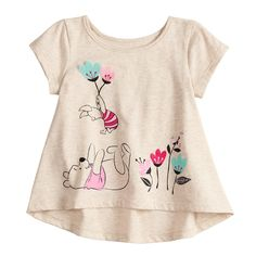 Disney's Winnie the Pooh Baby Girl Shirred-Back Swing Top by Jumping Beans®, Lt Beige Little Girl Outfits, Toddler Outfits, Kids Outfits, Funky Baby Clothes, Bts Shirt, Become A Fashion Designer, Girl Trends, Girls Blouse, Swing Top