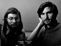 Steve Wozniak, Steve Jobs and the Apple I computer, ca. 1976