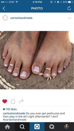 ROSE GOLD Toe rings!