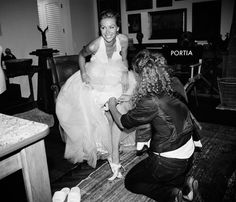 Portia de Rossi and Ellen Degeneres wedding. Love the candidness of this photo.