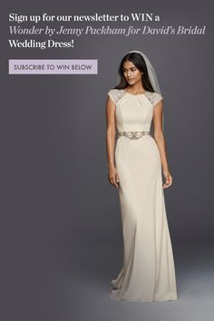 Want To Win A Gown From Jenny Packham S New Collection For David Bridal Sign Up Our Newsletter Find This Pin And More On Free Wedding Stuff