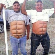 If you don't wanna work for the abs then get Instant abs. two fine examples of temporary instant abs You Make Me Laugh, Laugh Out Loud, Instant Abs, Funny Cartoons, Funny Jokes, Funny Minion, Funny Laugh, Funny Texts, Funny Pranks