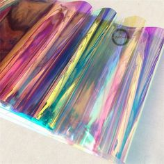 Details about Transparent Clear Holographic Iridescent PVC Fabric Mirror Film Vinyl Bag Craft PVC Holographic Clear Film Mirrored Foil Holographic Vinyl Graphic Fabric This is a Holographic PVC fabric, which can reflects a variety of color. Pvc Fabric, Vinyl Fabric, Fabric Crafts, Pvc Vinyl, Fabric Shop, Vinyl Crafts, Diy And Crafts, Quick Crafts, Holographic Fabric