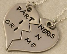 Partners in Crime Best Friend Necklace Set $25.00