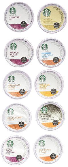 20 count variety pack of starbucks coffee kcups for keurig brewers 10 - Starbucks Keurig Cups