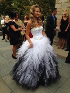 Scarlett Black and White wedding dress- I would want to remove the ...