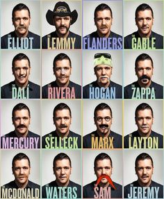 #november is the month for the movember. Grow any one of these mustaches to make your statement
