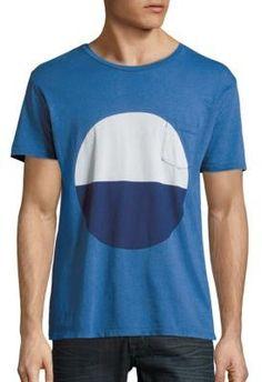 Joe Wenko Men Fashion Patch Long-Sleeve O-Neck Athletic T-Shirt Top