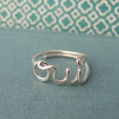 I discovered this oui ring in sterling silver on Keep. View it now.