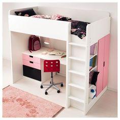 STUVA ranza kombinasyonu, beyaz-siyah | IKEA