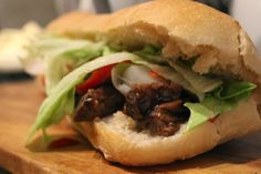 Hot and Spicy Killer Beef Sandwich