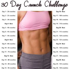 One Month Crunch Challenge #tipit #Health #Fitness #Trusper #Tip