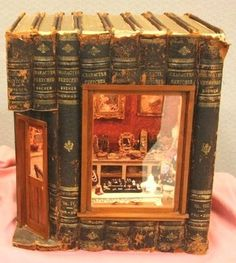 Fairy house made from old books