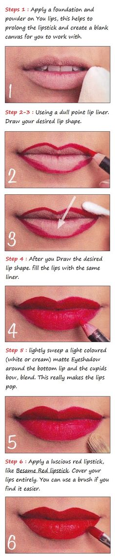 Glamorous Red Lips Tutorial | Beauty Tutorials