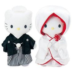hello kitty & dear daniel dressed in traditional japanese wedding attire