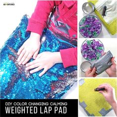 Sew Weighted Blanket Super Simple Calming Weighted Lap Pad for the Kid that Can't Sit Still - Looking for the perfect tool for your kid that can't sit still? This super simple calming weighted lap pad will calm your child in no time! Sensory Tools, Autism Sensory, Sensory Activities, Weighted Blanket Diy, Lap Blanket, Angry Child, Mermaid Diy, Mermaid Pillow, Sensory Integration