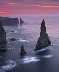 Duncansby Gloaming,Duncansby Stacks, Caithness, Scotland, by Ian Cameron The Places Youll Go, Places To See, Magic Places, Photos Voyages, Scotland Travel, Scotland Nature, Scotland Landscape, Scotland Trip, Scotland Uk