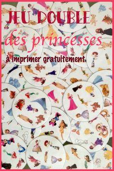 Jeu Double des princesses à imprimer