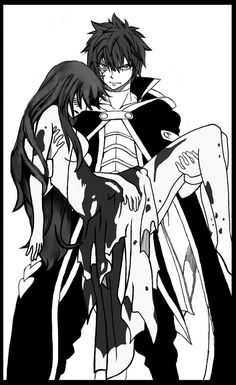 Jellal saving Erza <3<<<Ezra you better snatch that man up! i really wish her clothes werent that torn