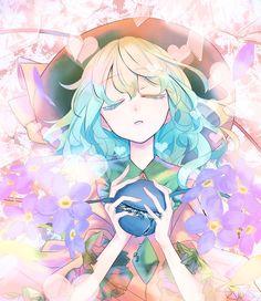 Koishi Komeiji Manga Art, Manga Anime, Anime Art, Anime Girl Cute, Kawaii Anime Girl, Danganronpa Characters, Anime Characters, Pretty Art, Cute Art