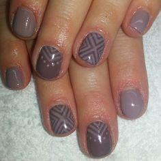 Nude taupe shellac. Opi gel, opi Brazil's taupless beach nails with tribal. Instagram: @boop711