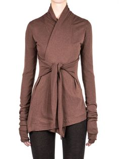 Rick Owens Lilies Moody Tie Front Jacket