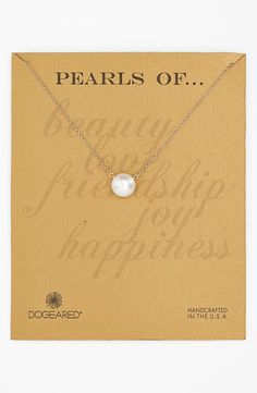 Dogeared Freshwater Pearl Necklace | Nordstrom