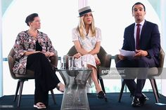 L-R Amy Emmerich, Chloe Sevigny and Ramin Setoodeh attend Kering Talks Women In Motion At The 69th Cannes Film Festival on May 18, 2016 in Cannes.