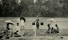Circa A Scene of people taking a bath and Washing their clothes along the Pasig River. via Old Manila Philippines Culture, Manila Philippines, Philippines Travel, Treaty Of Paris, President Of The Philippines, The Spanish American War, Mindanao, Cultural Studies, Vintage Pictures