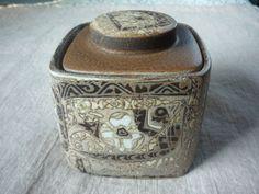 "Royal Copenhagen Mid Century Modern Jar Humidor 5"" Nils Thorsson Baca 1962  #RoyalCopenhagen"