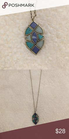 LOFT Turquoise Pendant Necklace Only worn a few times. Selling because it's not my style. LOFT Jewelry Necklaces