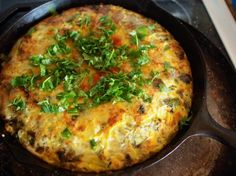 Corn, Cilantro and Hatch Chile Frittata
