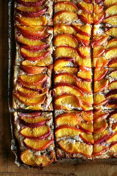 Recipe For Peach Frangipane Tart - Peach Almond - I love nothing more than making these free-form tarts, always with a layer of frangipane slicked over the pastry, the combination of almond cream, warm fruit and buttery pastry nothing short of perfection.