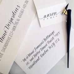 envelopes   imaginejoy calligraphy   Montréal, Québec   calligraphie contemporaine
