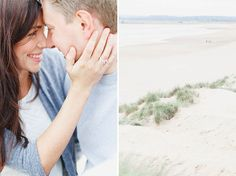 Beach engagement shoot at Camber Sands in East Sussex