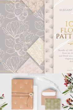This bundle includes 100 elegant seamless patters from last 4 sets. You will find floral, tropical, bohemian pattern as well as patterns with birds and butterflies)